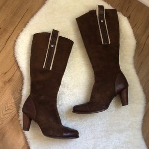 Brown Ugg Heeled Boots